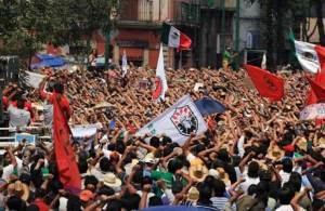 Sunday's march in Mexico City drew of thousands of demonstrators